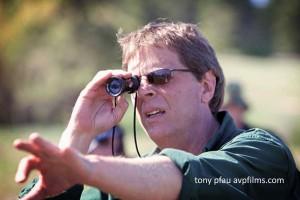 Tony Pfau on set